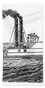 Steamboat, 19th Century Beach Sheet