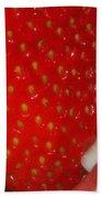 Strawberry Lips Beach Towel by Joann Vitali