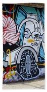 Street Art Valparaiso Chile 15 Beach Towel