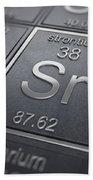 Strontium Chemical Element Beach Towel