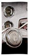 Studebaker Steering Wheel Emblem Beach Towel