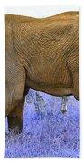 Styled Environment-the Modern Elephant Bull Beach Towel