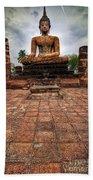 Sukhothai Buddha Beach Towel