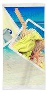 Summer Postcards Beach Towel by Amanda Elwell