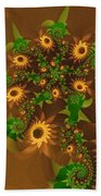 Summer's Last Sunflowers Beach Towel