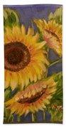 Sunflower Burst 1 Beach Towel