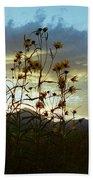 Sunflowers At Sunset Beach Towel