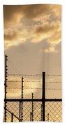 Sunset Fence Beach Towel