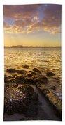 Sunset Light Beach Towel by Debra and Dave Vanderlaan