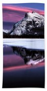 Sunset Mount Rundle Beach Towel