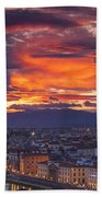 Sunset Over Florence Beach Towel