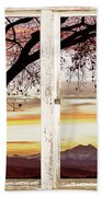 Sunset Tree Silhouette Abstract Picture Window View Beach Towel by James BO  Insogna
