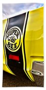 Super Close Super Bee  Beach Towel