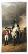 Surrender Of Lord Cornwallis Beach Towel by John Trumbull