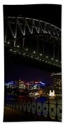 Sydney Harbor Bridge At Night Beach Towel