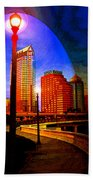 Tampa History In Reflection Beach Towel