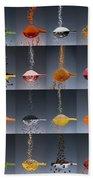 1 Tablespoon Flavor Collage Beach Towel by Steve Gadomski