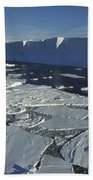 Tabular Iceberg With Broken Fast Ice Beach Towel