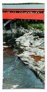 Taftsville Covered Bridge Vermont Beach Sheet