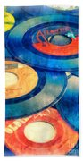 Take Those Old Records Off The Shelf Beach Towel