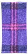 Tartan Pattern Beach Towel