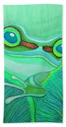 Teal Frog Beach Towel