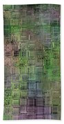 Technology Abstract Beach Towel by Michal Boubin