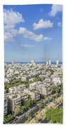 Tel Aviv Israel Elevated View Beach Towel