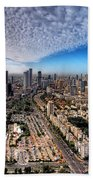 Tel Aviv Skyline Beach Towel