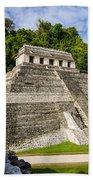 Temple Of Inscriptions Beach Towel