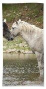 Tender Moments - Wild Horses  Beach Towel