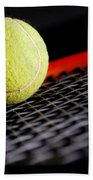 Tennis Equipment Beach Towel by Michal Bednarek