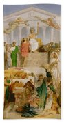 The Age Of Augustus The Birth Of Christ Beach Towel