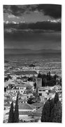 The Alhambra And Albaycin In Granada Beach Towel