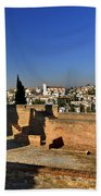 The Alhambra Palace Cubo Tower Beach Towel