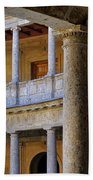 The Alhambra Palace Of Carlos V Beach Towel by Guido Montanes Castillo