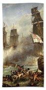 The Battle Of Trafalgar Beach Towel