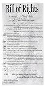 The Bill Of Rights H K Beach Sheet