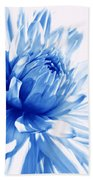 The Blue Dahlia Flower Beach Towel