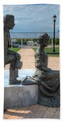 The Catherine And Milton Hershey Statue Beach Towel
