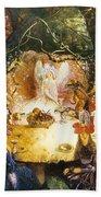 The Fairies Banquet Beach Towel by John Anster Fitzgerald