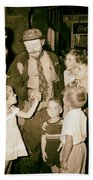 The Famous Clown Emmett Kelly 1956 Beach Towel