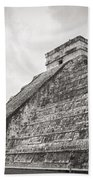 The Famous Kulkulcan Pyramid At Chichen Itza Beach Towel