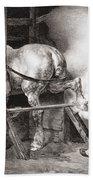 The Farrier, From Etudes De Cheveaux Beach Sheet