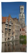 The Historic Center Of Bruges Beach Towel