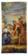 The Meeting Of David And Abigail Beach Towel