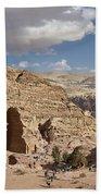The Monastery El Deir Or Al Deir Beach Towel