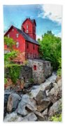 The Old Red Mill Jericho Vermont Beach Towel