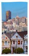 The Painted Ladies Of San Francisco Beach Towel