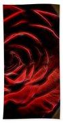 The Rose Digital Art Beach Towel